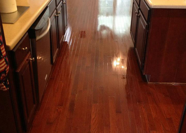 a finished hardwood floor resurfacing project by Fabulous Floors Baltimore