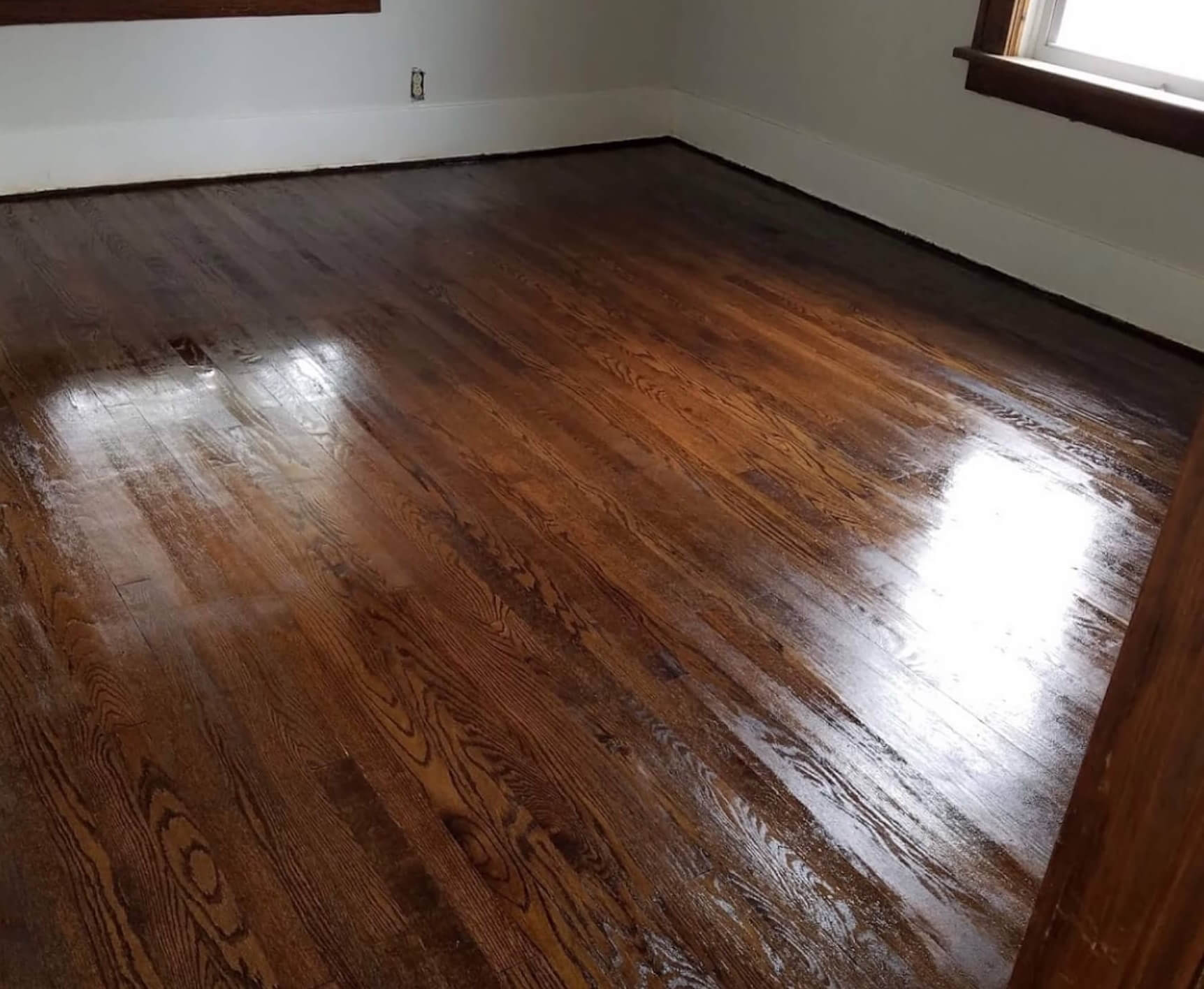 an after shot of one of our hardwood renewal projects