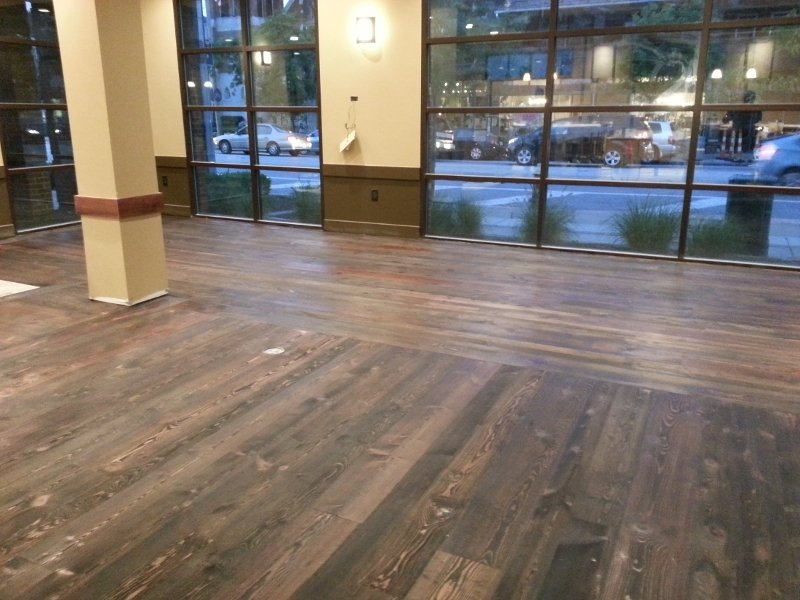 before a commercial hardwood floor refinishing