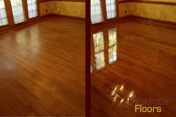 Before and After Hardwood Floor Resurfacing Baltimore MD