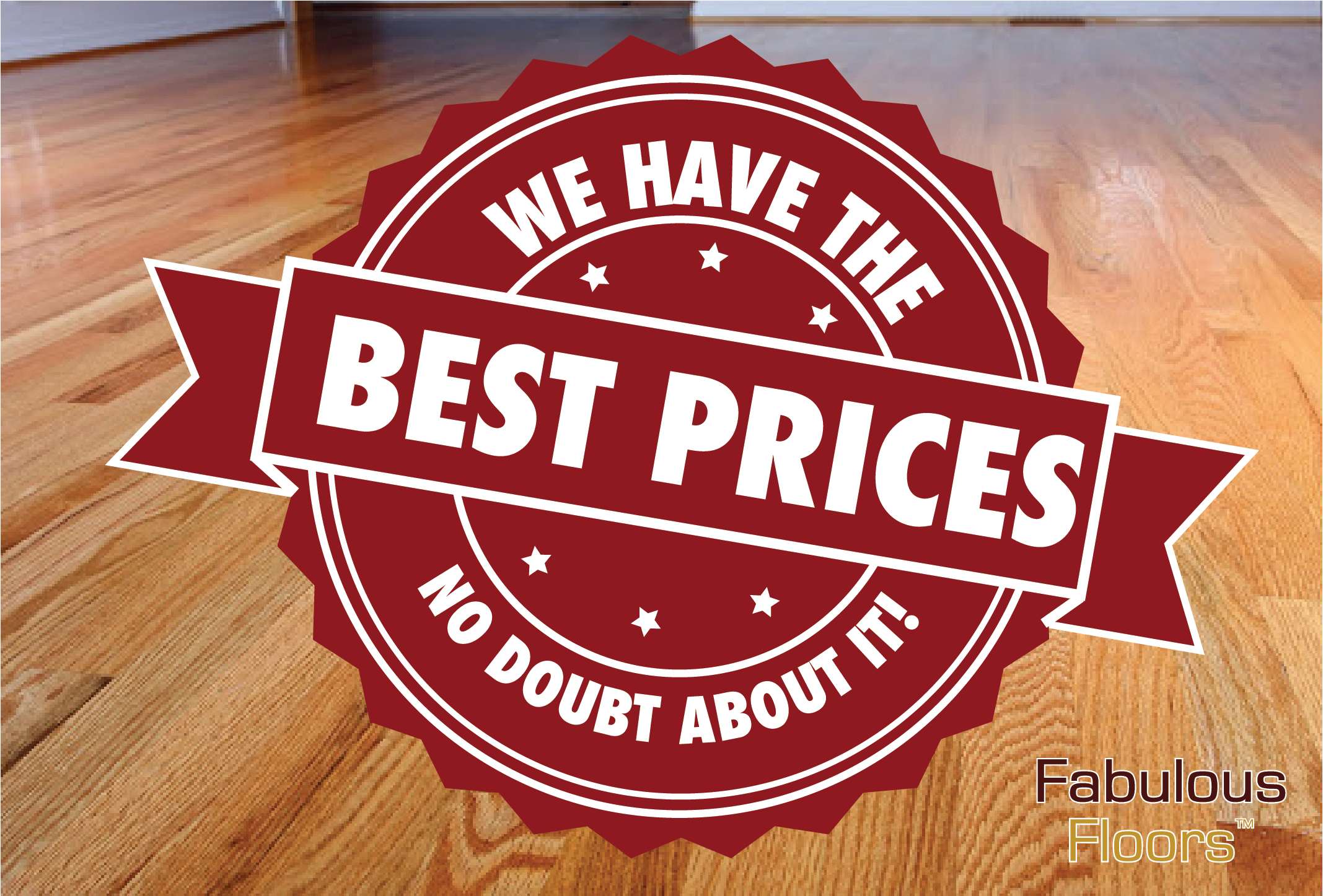 A graphic saying that we have the best prices no doubt about it